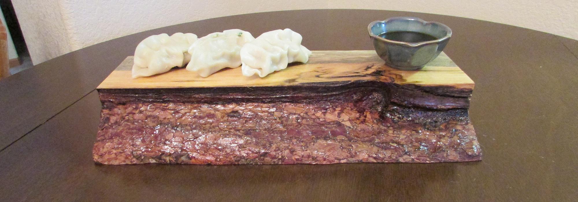 wooden sushi board